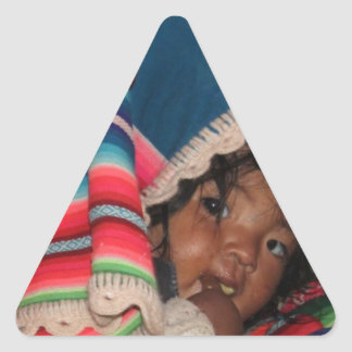 South America Children, South American Child, Baby Triangle Sticker