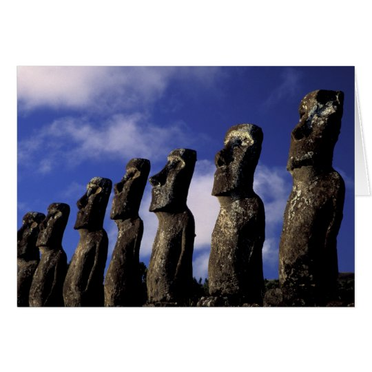 South America, Chile, Easter Island, Ahu Akiri. Card