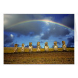 South America, Chile, Easter Island. The full Greeting Cards