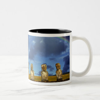 South America, Chile, Easter Island. The full Two-Tone Coffee Mug