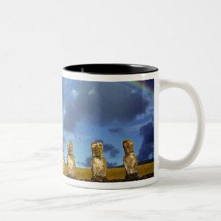South America, Chile, Easter Island. The full Two-Tone Coffee Mug