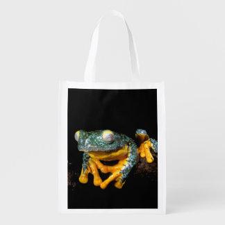 South America, Ecuador, Amazon. Leaf frogs Market Tote