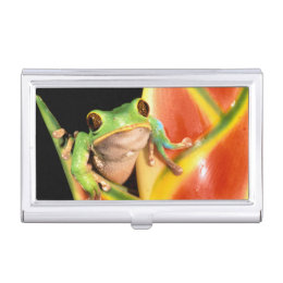 Amazon business card holders cases zazzle south america ecuador amazon tree frog business card case colourmoves Choice Image