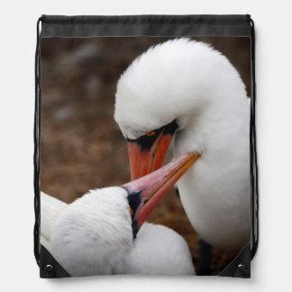 South America, Ecuador, Galapagos Islands. Nazca Drawstring Bag