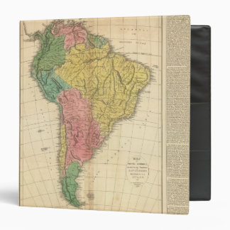 South America History Map 3 Ring Binder