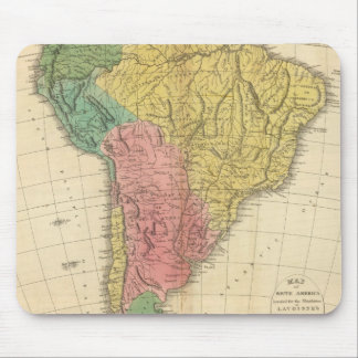 South America History Map Mouse Pad