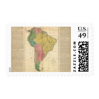 South America History Map Postage