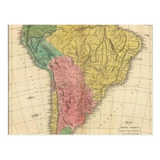 South America History Map Postcard