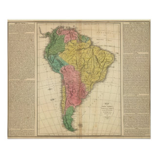South America History Map Poster