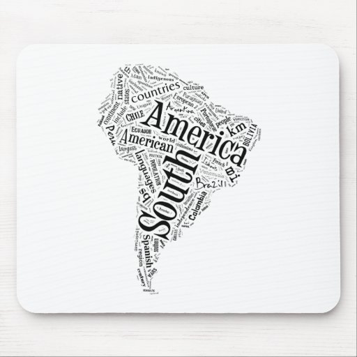 South America in Tagxedo Mouse Pad
