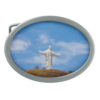 South America Jesus Christ Statue Belt Buckle
