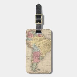 South America. Luggage Tag
