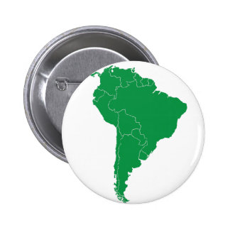 South America Map 2 Inch Round Button