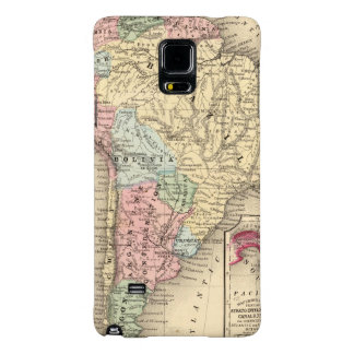 South America Map by Mitchell Galaxy Note 4 Case