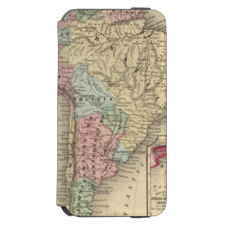 South America Map by Mitchell iPhone 6/6s Wallet Case