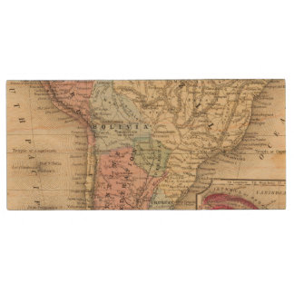 South America Map by Mitchell Wood USB 2.0 Flash Drive