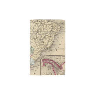 South America Map by Mitchell Pocket Moleskine Notebook Cover With Notebook