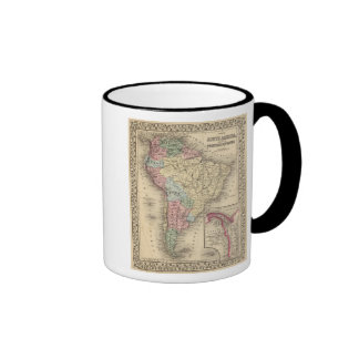 South America Map by Mitchell Ringer Coffee Mug