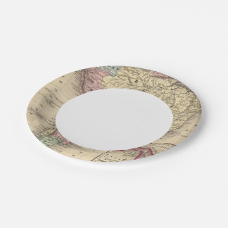 South America Map by Mitchell 7 Inch Paper Plate