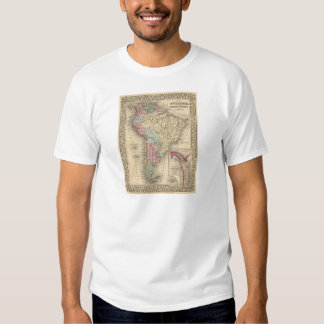 South America Map by Mitchell Tee Shirt