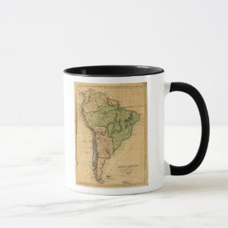 South America  Map by Worcester Mug