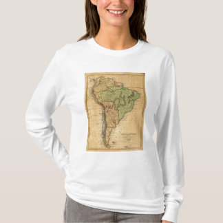 South America  Map by Worcester T-Shirt