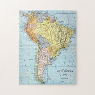Map Of America Jigsaw.South America Map C1890 Jigsaw Puzzle