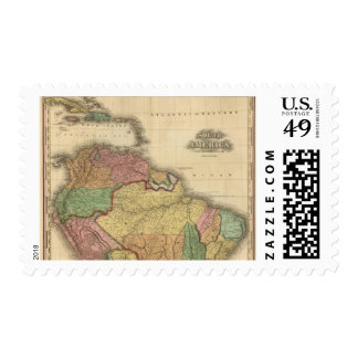 South America northern half Postage Stamp