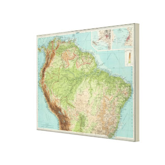 South America northern section Canvas Print