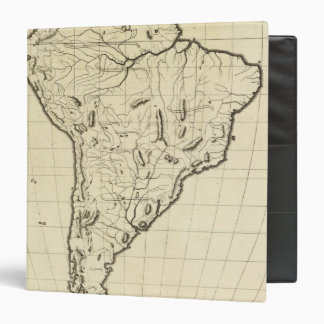 South America outline 3 Ring Binder
