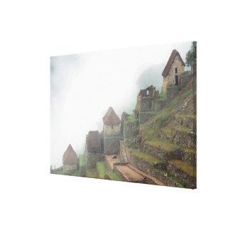 South America Peru Macchu Picchu Canvas Print