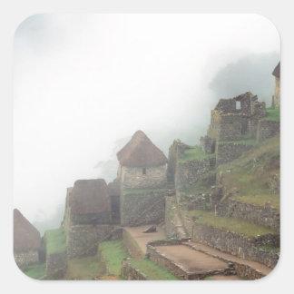 South America Peru Macchu Picchu Square Sticker