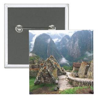 South America, Peru, Machu Picchu Button