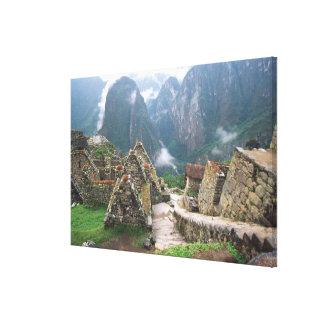 South America, Peru, Machu Picchu Canvas Print