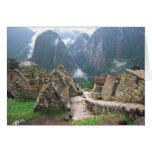 South America, Peru, Machu Picchu Greeting Card