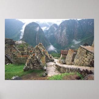 South America, Peru, Machu Picchu Poster