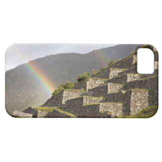 South America, Peru, Machu Picchu. Rainbows over iPhone SE/5/5s Case