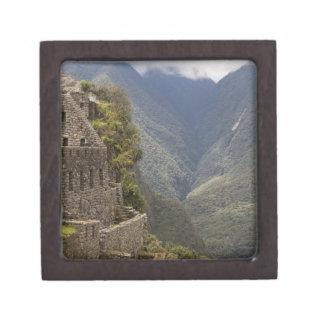 South America, Peru, Machu Picchu. Stone ruins Jewelry Box