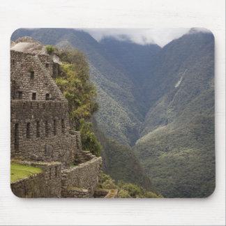 South America, Peru, Machu Picchu. Stone ruins Mouse Pad