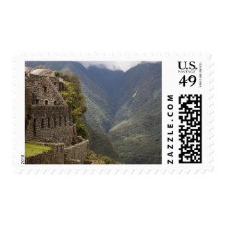 South America, Peru, Machu Picchu. Stone ruins Postage