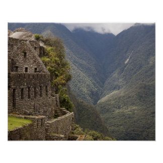 South America, Peru, Machu Picchu. Stone ruins Poster