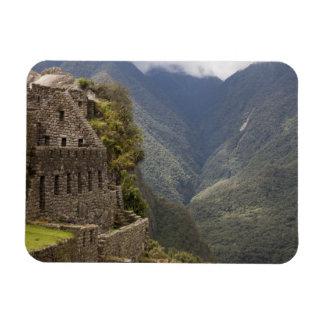 South America, Peru, Machu Picchu. Stone ruins Rectangular Photo Magnet