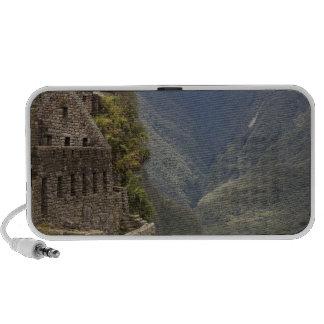 South America, Peru, Machu Picchu. Stone ruins Speakers