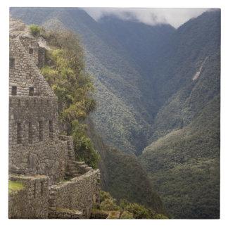 South America, Peru, Machu Picchu. Stone ruins Tile