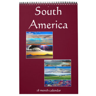 south america photography 18 months calendar