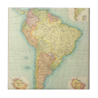 South America political Ceramic Tile