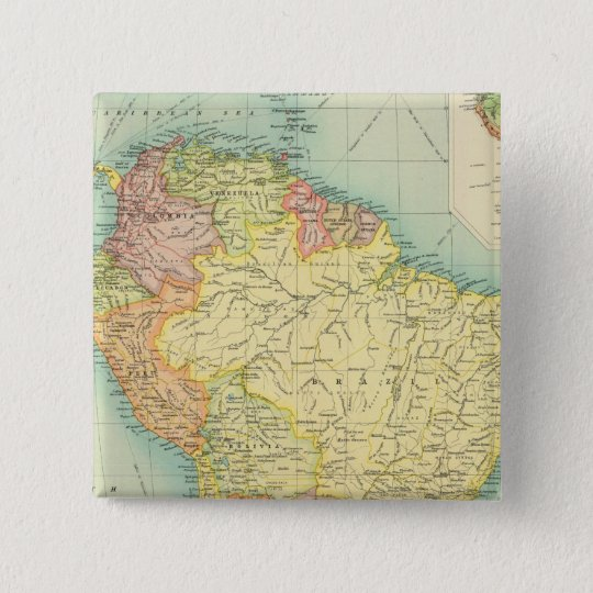 South America political Pinback Button
