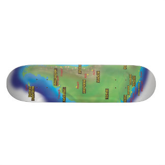 South America Skateboard Deck
