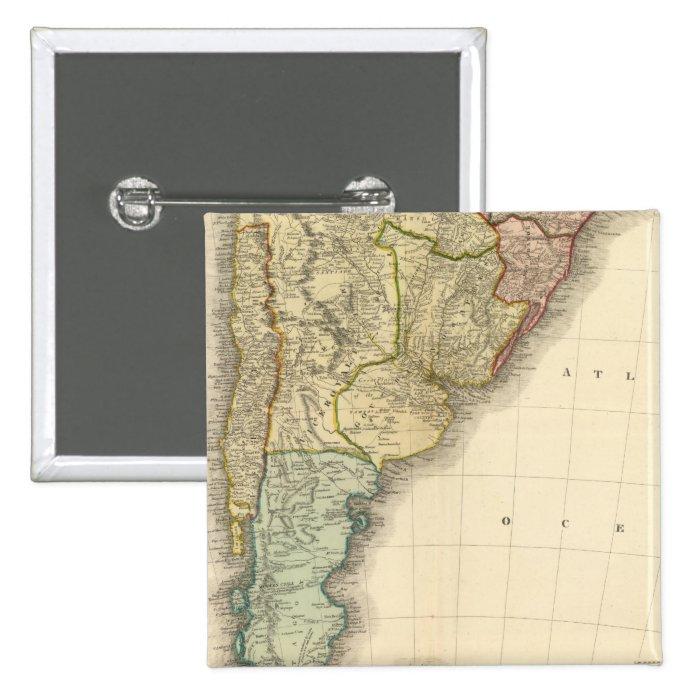 South America southern half Pinback Button