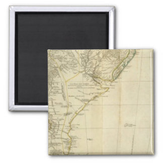 South America Southern Section 2 Inch Square Magnet